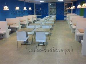 мебель столовой гостевой зал синий