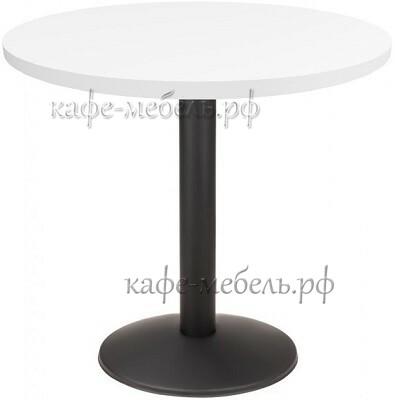 столик круглый HPL пластик на стальном подстолье