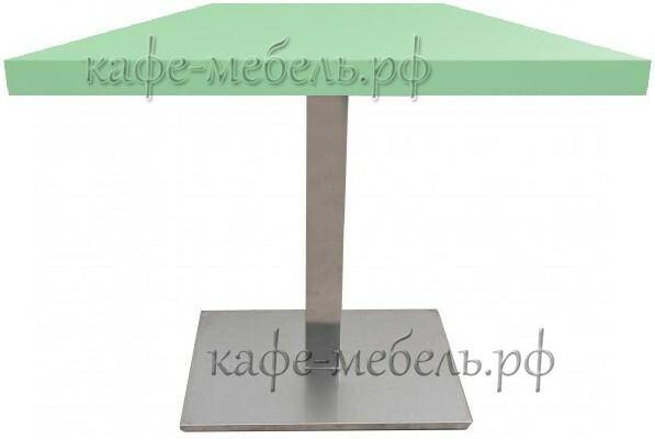 столик для кофейни квадратный пластик на нержавеющем подстолье