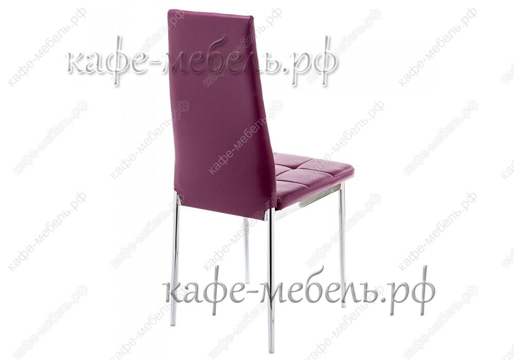 стул форин фиолетовый+хром