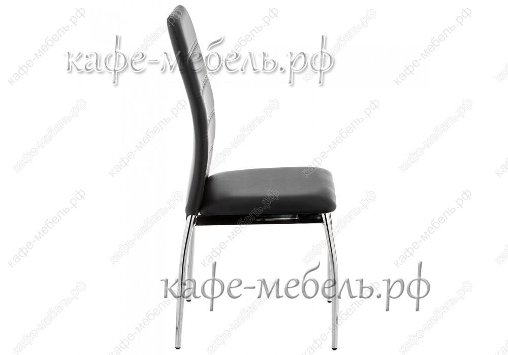 стул форин чёрный+хром