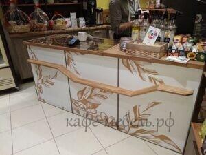 деревянная стойка для кофейни бравос на краснопрудной