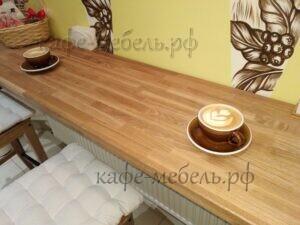 мебель для кофеен деревянная столешница массив ясеня