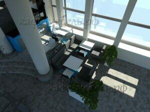 мебель для кофейни в холле бизнес центра