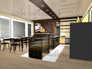 пример расстановки мебели в кофейне