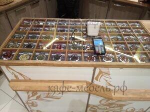 мебель для кофе витрина из дерева для кофе и чая