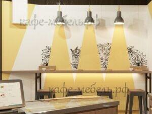 визуализация барного столика для кофейной стойки бравос