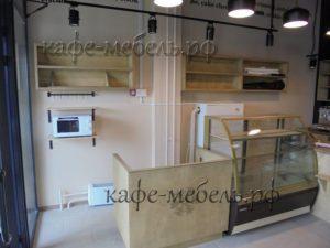 мебель полки из фанеры для кафе-пекарни