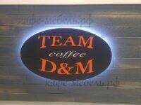 деревянный логотип для кофейни