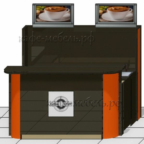 стойка кофе красно-чёрная хпл глянец