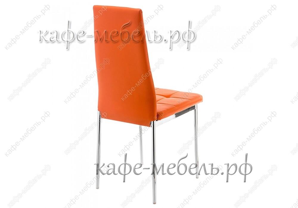 стул форин оранжевый+хром