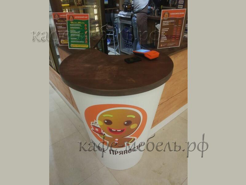 деревянная гостевая столешница кофе островка