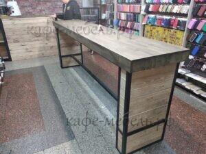деревянная мебель для кофейни лофт дерево и железо