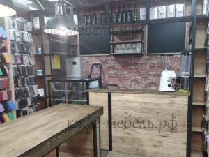 деревянная мебелдля крфейни лофт