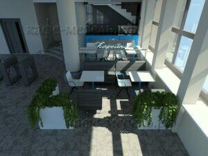 мебель для кофейни в холле