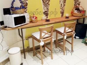 пристенный столик для кофе островка